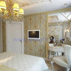 Дизайн проект спальни для девушки: Спальни в . Автор – Дизайн студия 'Дизайнер интерьера № 1', Классический Бумага