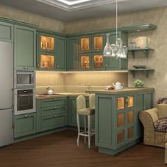غرفة السفرة تنفيذ Alena Gorskaya Design Studio