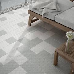 Area 15 White, Grey 15x15: Spa de estilo  de Equipe Ceramicas