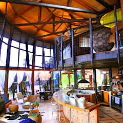 Salas / recibidores de estilo  por Hérmanes Abreu Arquitetura Ltda, Rústico