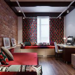 Квартира Ленсовета: Рабочие кабинеты в . Автор – Студия дизайна интерьера 'Юдин и Новиков',