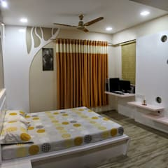 3BHK - Interior 9th Floor Flat @Bharuch Modern style bedroom by SkyGreen Interior Modern