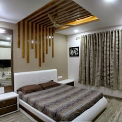 3BHK - Interior 9th Floor Flat @Bharuch:  Bedroom by SkyGreen Interior