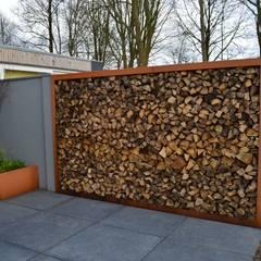 Woning + kantoor Utrecht: moderne Tuin door STROOM architecten