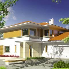 PROJEKT DOMU DIEGO II G2 : styl , w kategorii Domy zaprojektowany przez Pracownia Projektowa ARCHIPELAG