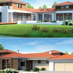 PROJEKT DOMU DIONIZY G2 : styl , w kategorii Domy zaprojektowany przez Pracownia Projektowa ARCHIPELAG