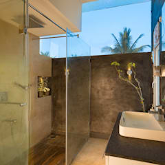Studio Apartment: modern Bathroom by Ink Architecture