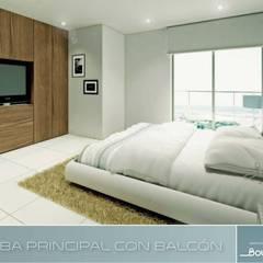 Boulevard 41: Habitaciones de estilo  por Oleb Arquitectura & Interiorismo