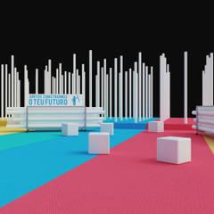 Stand IPP 'Qualifica 2015' Locais de eventos minimalistas por ASVS Arquitectos Associados Minimalista