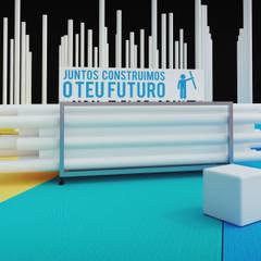 Stand IPP 'Qualifica 2015': Locais de eventos  por ASVS Arquitectos Associados