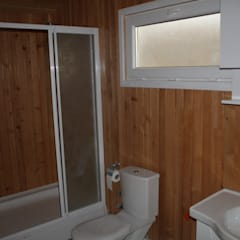 Kuloğlu Orman Ürünleri – Şömineli Ahşap Ev:  tarz Banyo