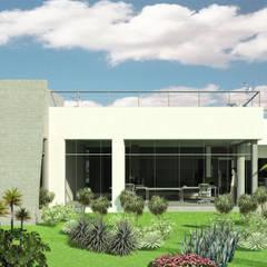 Oficinas Experience Center Venezuela- Smurfit Kappa, Vanezuela: Jardines de estilo  por Eisen Arquitecto, Escandinavo