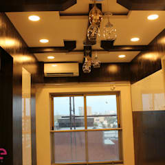 Residential Appartment @ Phoenix Market city - Chennai:  Dining room by ECUBE INTERIOR SOLUTIONS PVT LTD