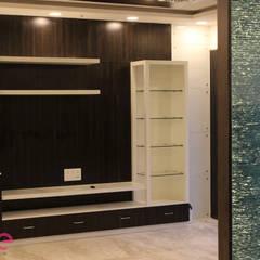 Residential Appartment @ Phoenix Market city - Chennai:  Media room by ECUBE INTERIOR SOLUTIONS PVT LTD