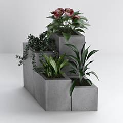 Donice betonowe Bettoni: styl , w kategorii Taras zaprojektowany przez DecoMania.pl