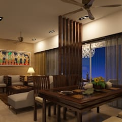Residential Interiors:  Dining room by Prism Architects & Interior Designers,Asian