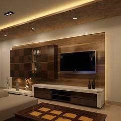 Salas de estilo asiático por Prism Architects & Interior Designers