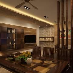 Comedores de estilo  por Prism Architects & Interior Designers , Asiático