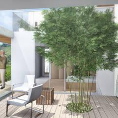 Jardín : Jardines de estilo minimalista por Ar4 Arquitectos