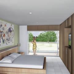 Casa Espinosa: Habitaciones de estilo  por Ar4 Arquitectos