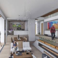 Área Social: Comedores de estilo  por Ar4 Arquitectos