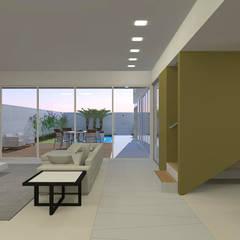 casa bs: Corredores e halls de entrada  por grupo pr | arquitetura e design,Moderno