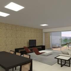 casa bs: Salas de estar  por grupo pr | arquitetura e design,Moderno