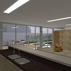 casa bs: Cozinhas  por grupo pr | arquitetura e design,Moderno