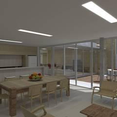 casa bs: Salas de jantar  por grupo pr | arquitetura e design,Moderno