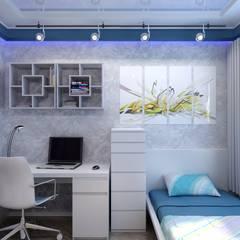 Dormitorios infantiles de estilo  por Цунёв_Дизайн. Студия интерьерных решений., Industrial