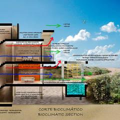 Corte bioclimatico: Casas de estilo  de Yucatan Green Design
