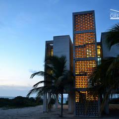 CASA DUNAS: Casas de estilo  de Yucatan Green Design