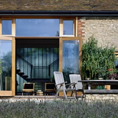 KSR Architects | Luxury barn conversion | Terrace:  Terrace by KSR Architects