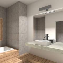 REMODELACIÓN ANNARATONE ELIZONDO: Baños de estilo  por ben arquitectos