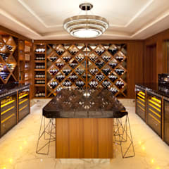 Two Houses, St John's Wood:  Wine cellar by KSR Architects, Classic
