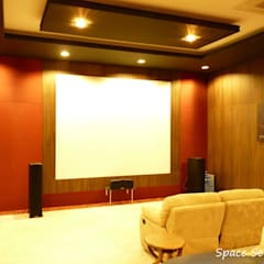 Private Home Theater:  Media room by Space Sense