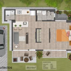 Kairos Apartaestudios: Casas de estilo  por CS Arquitectos, Minimalista