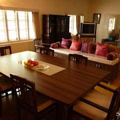 Private Dining: colonial Dining room by Space Sense