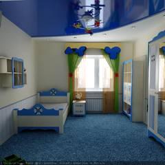 غرفة الاطفال تنفيذ Цунёв_Дизайн. Студия интерьерных решений. , إنتقائي