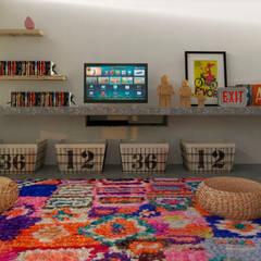Diseño de cocina y estar para proyecto Casa Primma Salones eclécticos de Estudio 17.30 Ecléctico