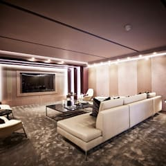 5&6 Connaught Place, Hyde Park, London. :  Media room by Flairlight Designs Ltd