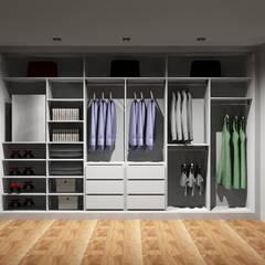 غرفة الملابس تنفيذ Amplitude - Mobiliário lda,