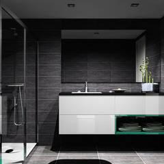 Cozinhas | Roupeiros | Moveis de banho: Casas de banho  por Amplitude - Mobiliário lda