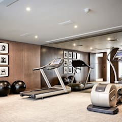 5&6 Connaught Place, Hyde Park, London. :  Gym by Flairlight Designs Ltd