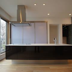 弥生町の家: 東章司建築研究所が手掛けたキッチンです。