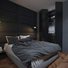 Dormitorios de estilo  por Катя Волкова, Industrial