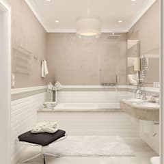 Ванная : Ванные комнаты в . Автор – Студия дизайна Дарьи Одарюк