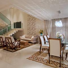 غرفة السفرة تنفيذ Livia Martins Arquitetura e Interiores, تبسيطي