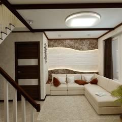 Salas / recibidores de estilo  por Цунёв_Дизайн. Студия интерьерных решений., Minimalista