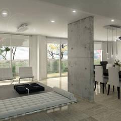 Proyecto Conjunto Santillana del Mar: Salas de estilo  por Oleb Arquitectura & Interiorismo, Moderno